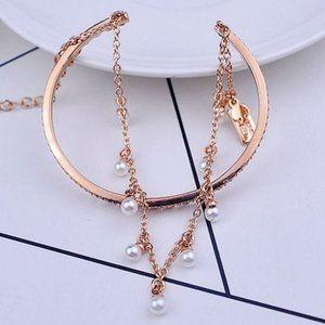 Kate Spade Fringed Pearl Rose Gold Bracelet